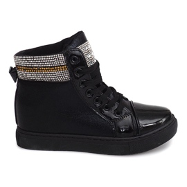 Wedge Sneakers 16-039 Black