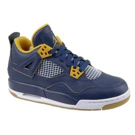 Nike Jordan Jordan 4 Retro Bg Jr 408452-425 shoes navy