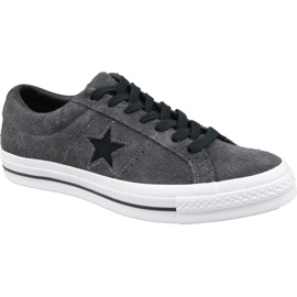 Grey Converse One Star Shoes M 163247C gray