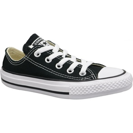 Black Converse C. Taylor All Star Youth Ox Jr 3J235C shoes