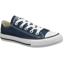 Navy Converse C. Taylor All Star Youth Ox Jr 3J237C shoes