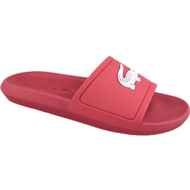 Red Lacoste Croco Slide 119 1 M slippers 737CMA001817K