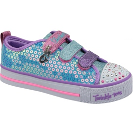 Skechers Twinkle Lite Jr 20062L-TQMT shoes blue