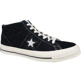 Black Converse One Star Ox Mid Vintage Suede M 157701C shoes