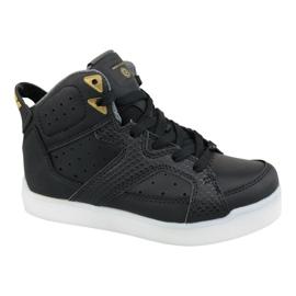 Black Skechers E-Pro Street Quest Lights Jr 90615L-BLK shoes