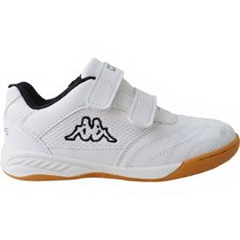 White Kappa Kickoff Jr 260509K 1011 shoes