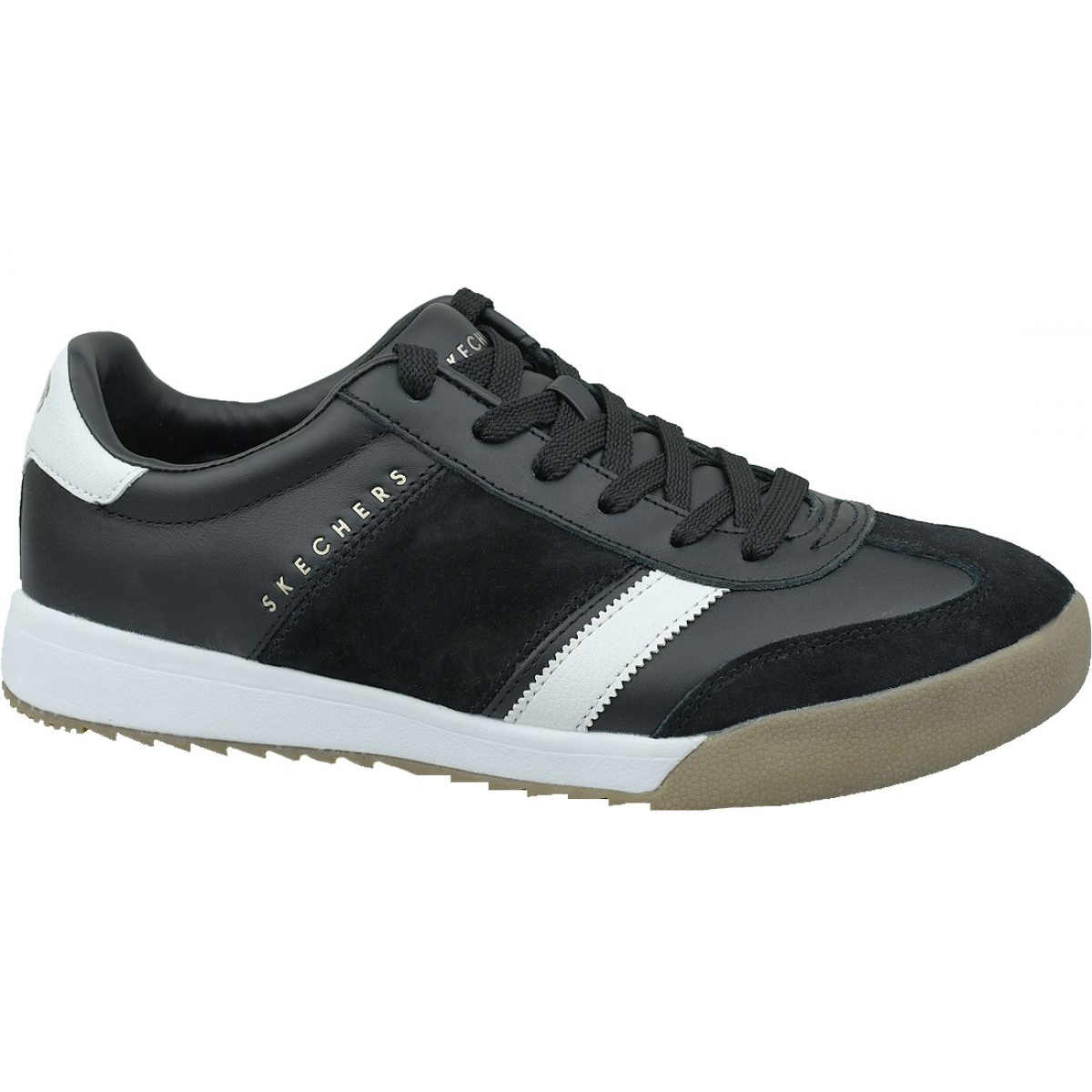Sin personal La nuestra luego  Skechers Zinger-Scobie M 52322-BKW shoes black - ButyModne.pl