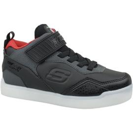 Black Skechers Energy Lights Jr 90613L-BKRD shoes