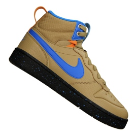 Nike Court Borough Mid Boot 2 (GS) Jr BQ5440-701 shoes yellow