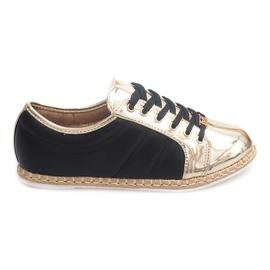 Linen Sneakers Espadrilles Q52 Black