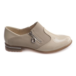 Brown Classic Slip-on shoes 15312 Beige