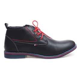 High Insulated Tied Shoes 86105 Navy