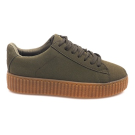 Boots Creepers On Platform AM-1101 Green