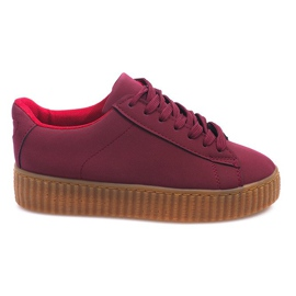Boots Creepers On Platform AM-1101 Red