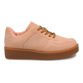 Brown Boots Creepers On Platform HBK1015 Nude