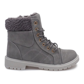 Grey Insulated Timber Boots Trapper DD498-4 Gray