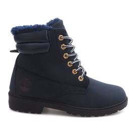 Insulated Timber Boots Trapery BED01 Navy