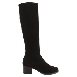 Caprice 25506 black stretch women's boots