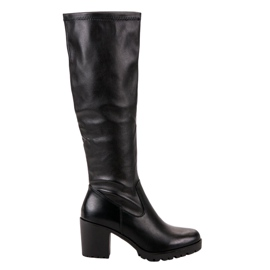 Boots On A Bar VINCEZA black