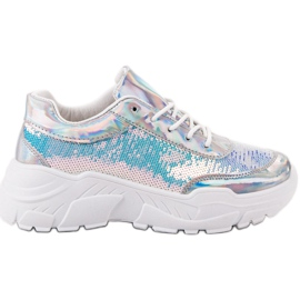 Marquiz grey Sport Shoes With Sequins