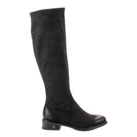 Black Suede Boots VINCEZA