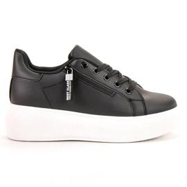 SHELOVET black Laced Footwear On The Platform