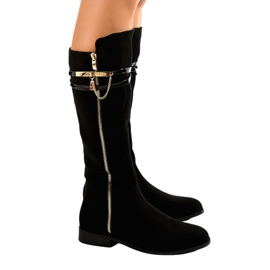 Black insulated boots 7570-PG