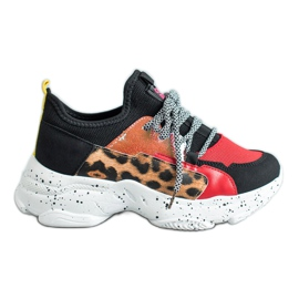 SHELOVET Leopard Print Sport Shoes