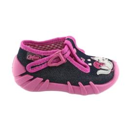 Befado children's shoes 110P348 silvery navy blue