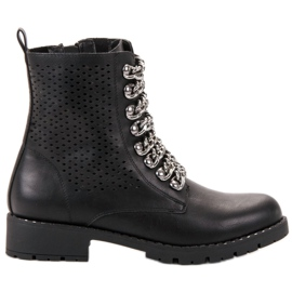 Groto Gogo black Boots In A Rock Style