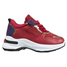 SHELOVET Casual Sneakers red
