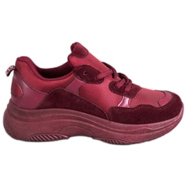 SHELOVET Maroon Sport Shoes red