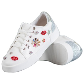 Bestelle white Sport Shoes With Patches