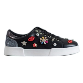 Bestelle black Sport Shoes With Patches