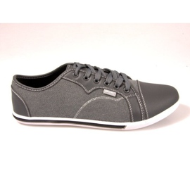 Grey Material Sneakers 011M Gray
