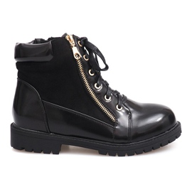 Glany Lace-up Boots 1551 Black