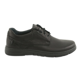 Black Riko 902 men's tied shoes
