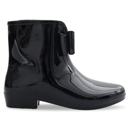 NEW Wellingtons With Bow NEW1 Black
