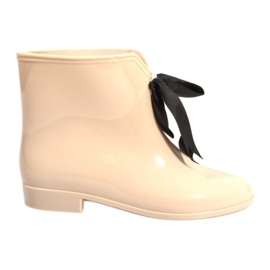 Brown YELLOW BOOTS With Bow Y015 Beige