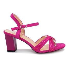 Violet Aliento purple high heels sandals