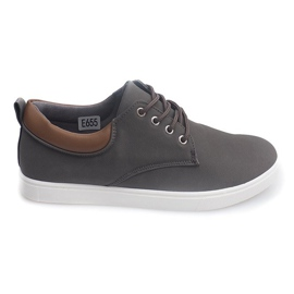 Grey Casual Men's Sneakers 655 Gray