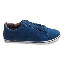 Fashionable High Sneakers TL345 Navy