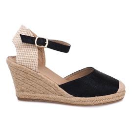 Espadrilles Wedge Sandals Boots A198-3 Black