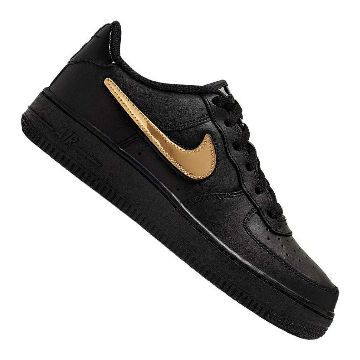 Black Nike Air Force 1 LV8 3 Jr AR7446 001 shoes
