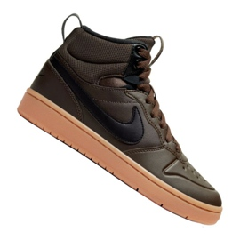Janice creative Behalf  Nike Court Borough Mid 2 Boot (GS) Jr BQ5440-200 shoes black - ButyModne.pl