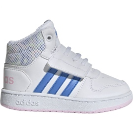 White Adidas Hoops Mid 2.0 I Jr EE8550 shoes