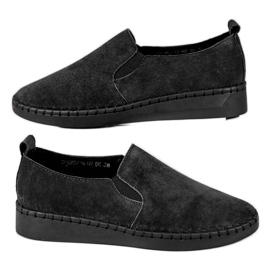 Filippo black Leather Sneakers Slip On
