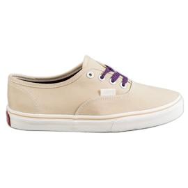 SHELOVET Comfortable sneakers brown