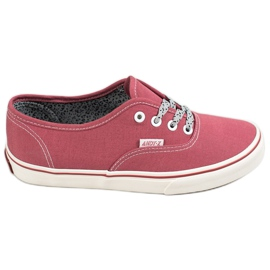 SHELOVET red Comfortable sneakers