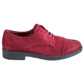 Best Shoes red Low shoes with crystals